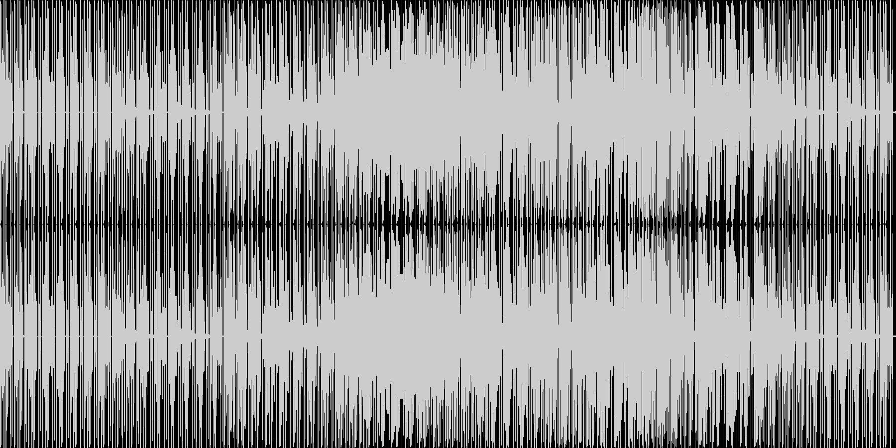 テクノですの未再生の波形