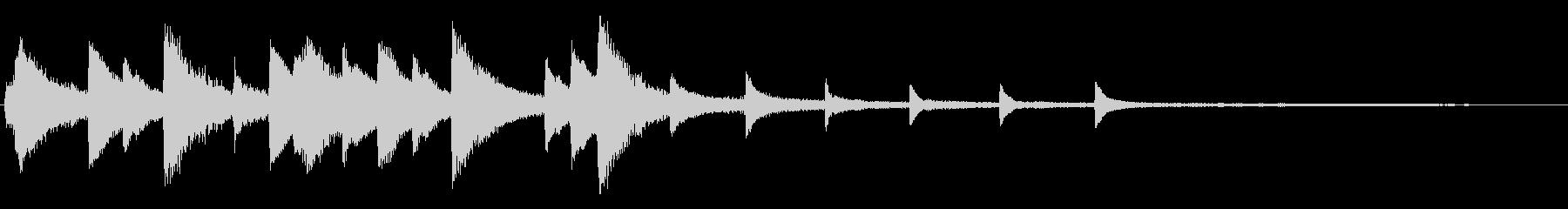 少し切ない落ちついたピアノジングル の未再生の波形