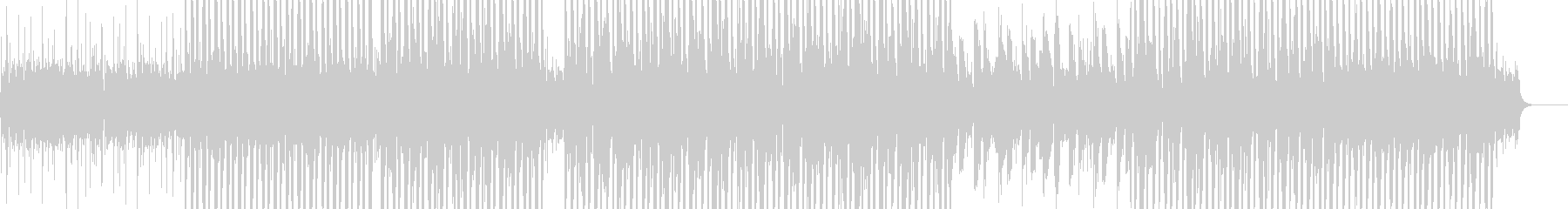 ゆったり4つ打ち 甘いギターアルペジオの未再生の波形