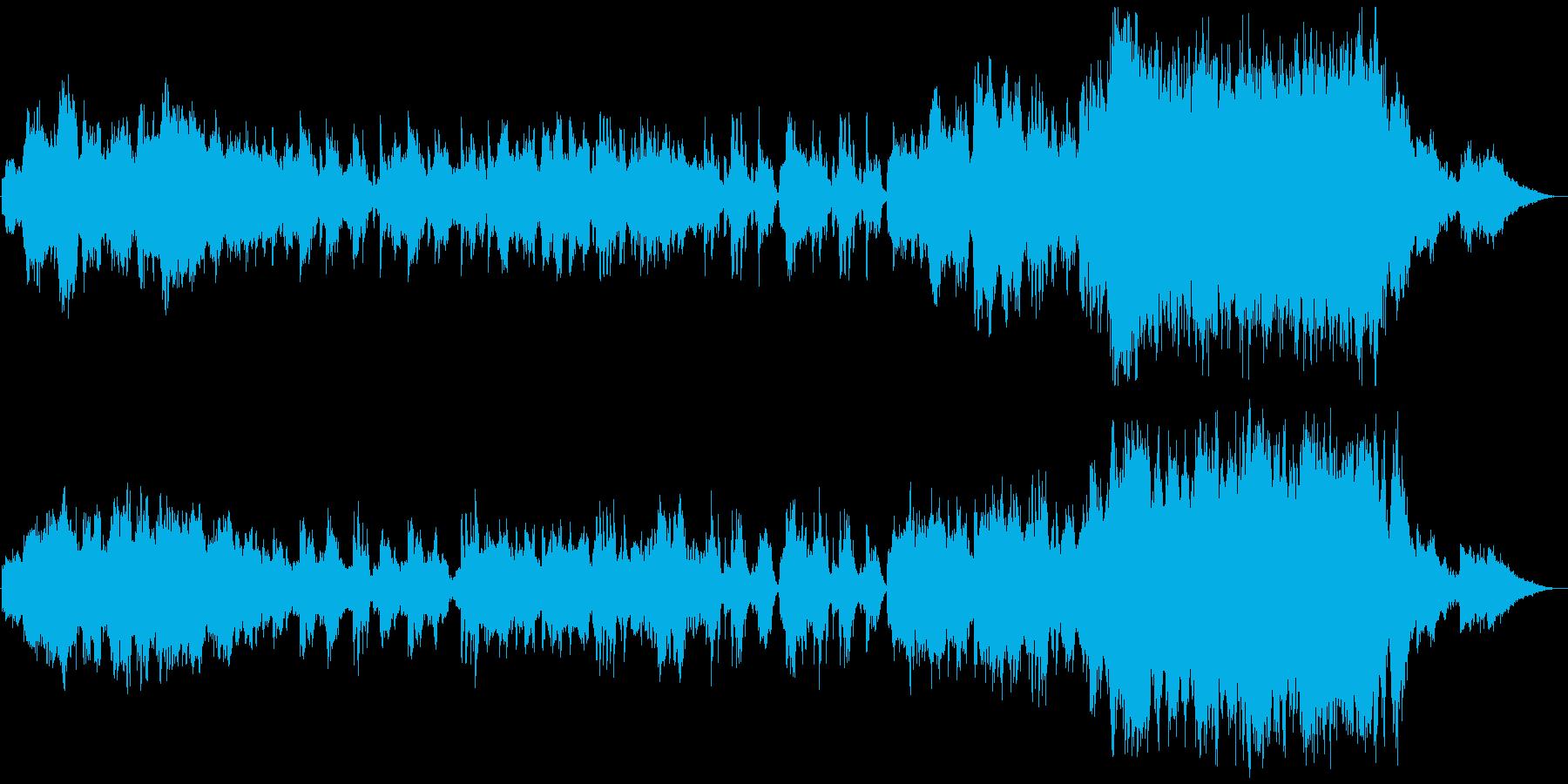 吹奏楽の優しい音色が印象的なオーケストラの再生済みの波形