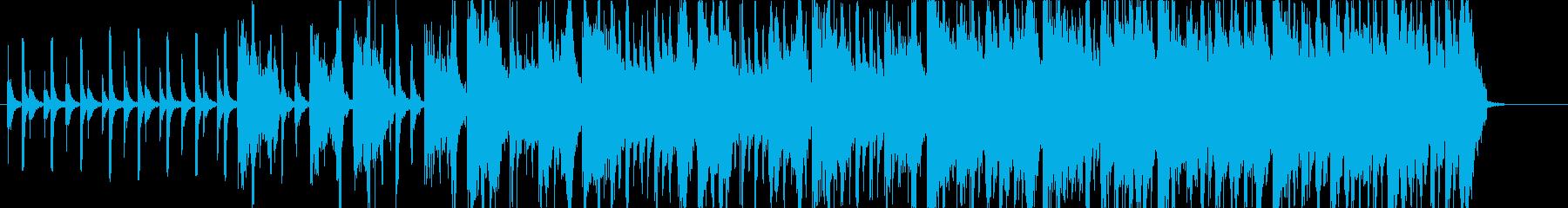 口笛やパーカッションの軽快でポップな曲の再生済みの波形