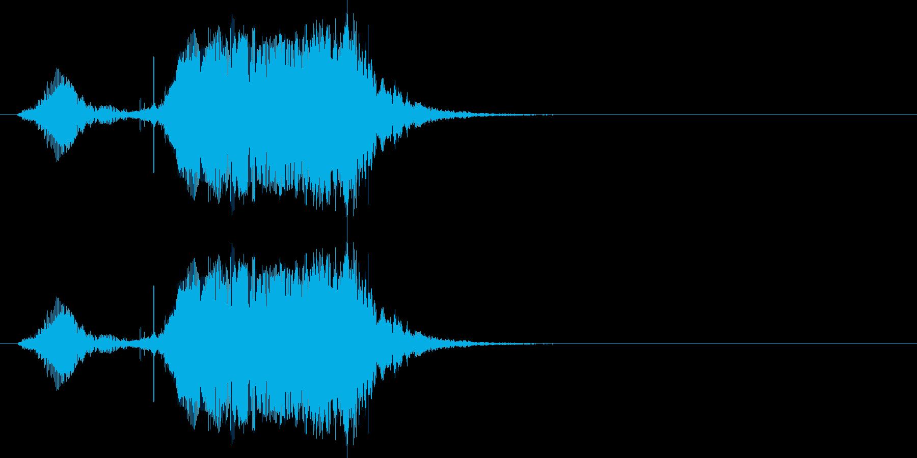 普通(幼児)の再生済みの波形