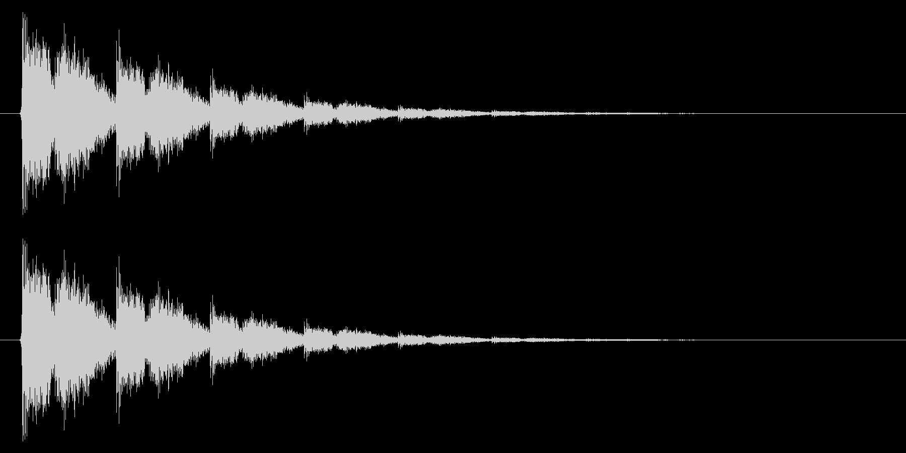 銃声01-4の未再生の波形