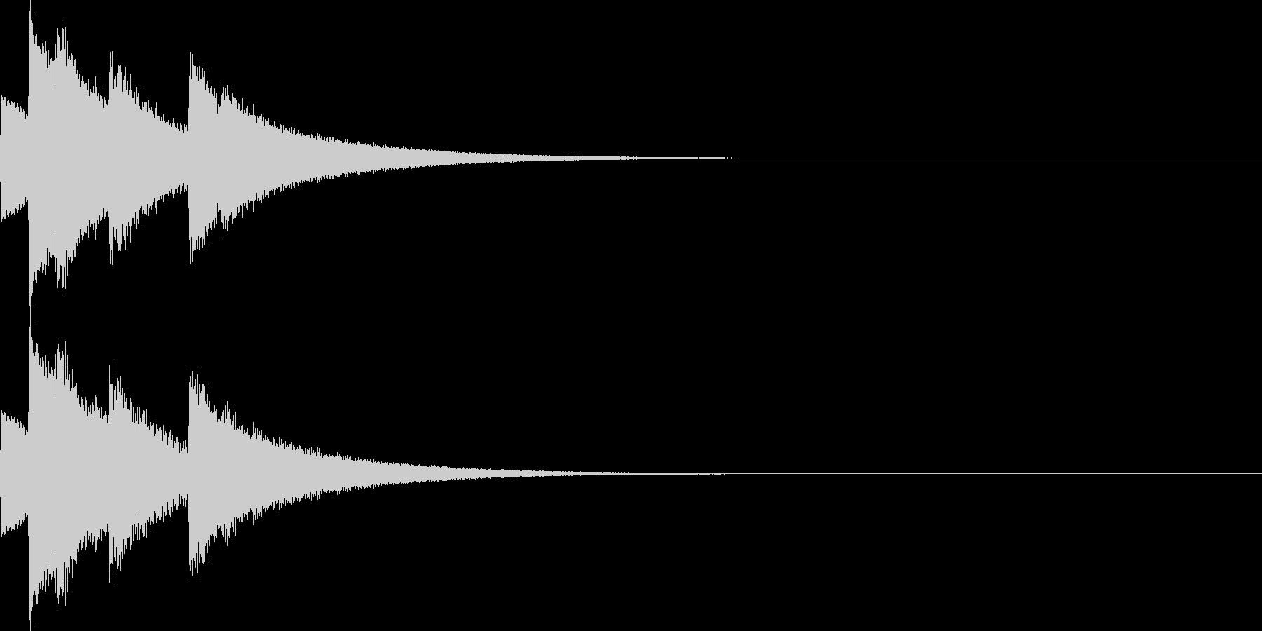 明るく煌びやかなSE 入手音 選択音の未再生の波形