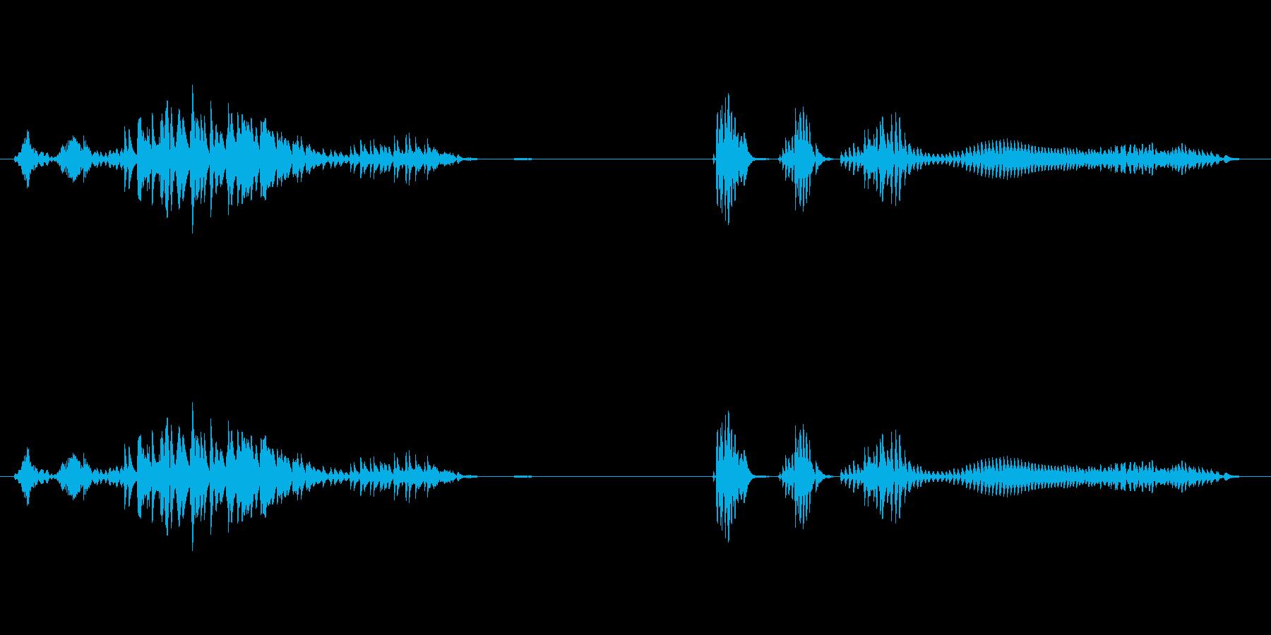 お腹が鳴る02の再生済みの波形