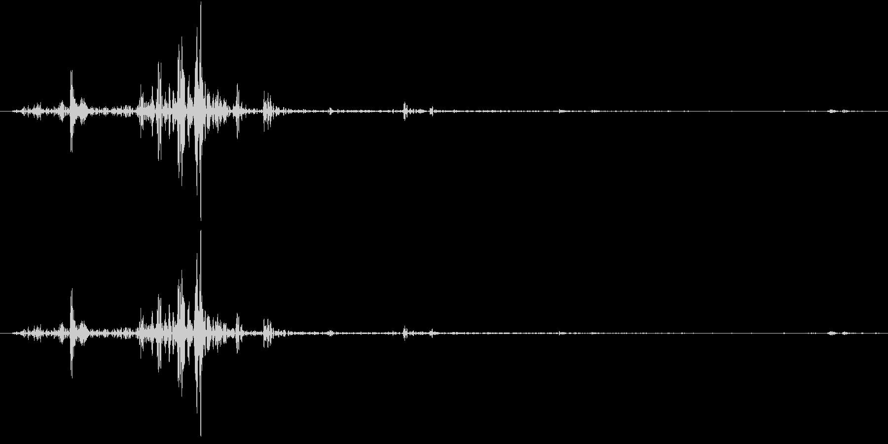 Tap ベチャッとした質感のタップ音 1の未再生の波形