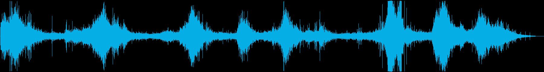 バイノーラル録音 穏やかな波の音の再生済みの波形