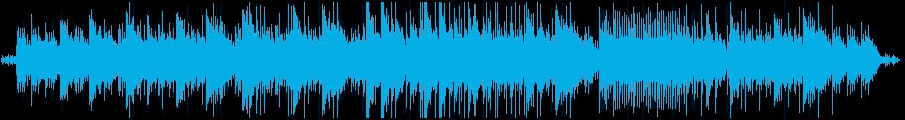 水音と優しいピアノのヒーリング音楽の再生済みの波形