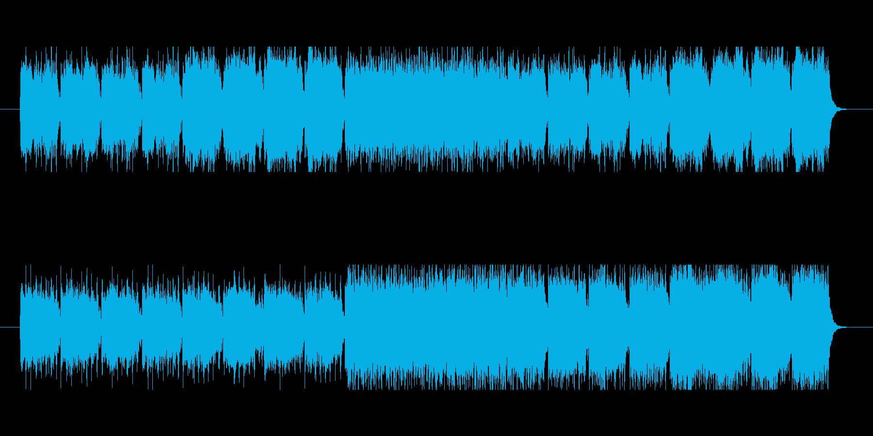 重厚感があるメロディーの再生済みの波形