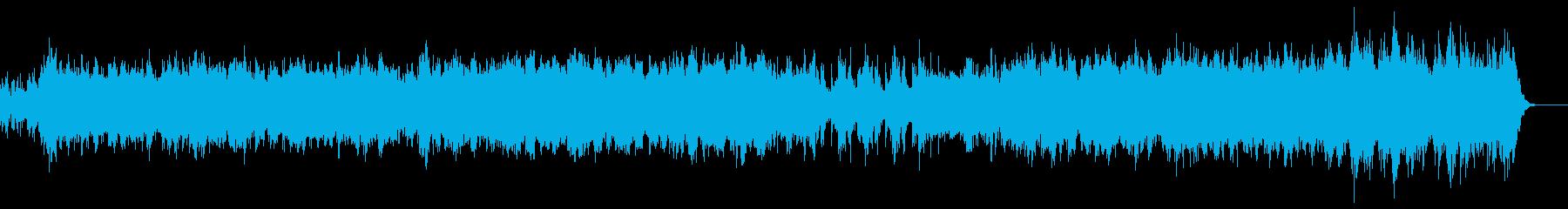 アンビエント系の幻想的なBGMの再生済みの波形