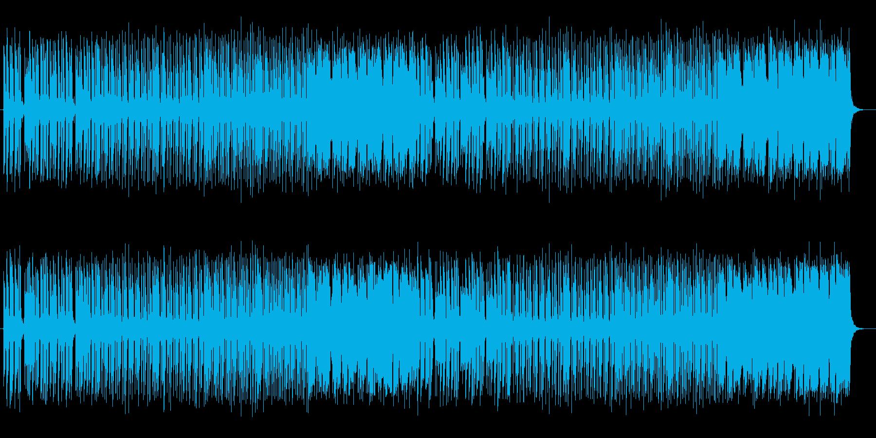 リズミカルで楽しいおしゃれなポップスの再生済みの波形