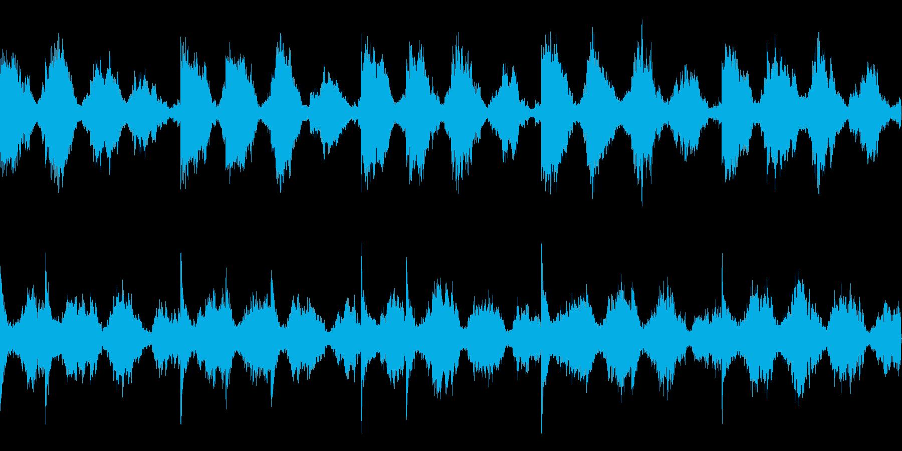 ループ素材_ホラー系2の再生済みの波形