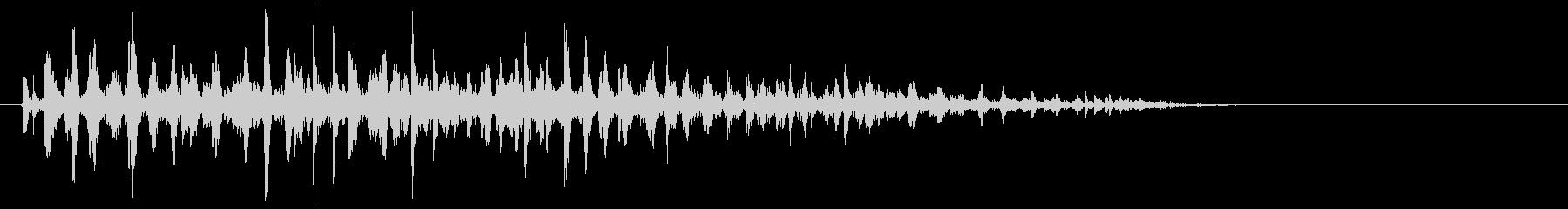 ブクブク(泡のような音) A02の未再生の波形