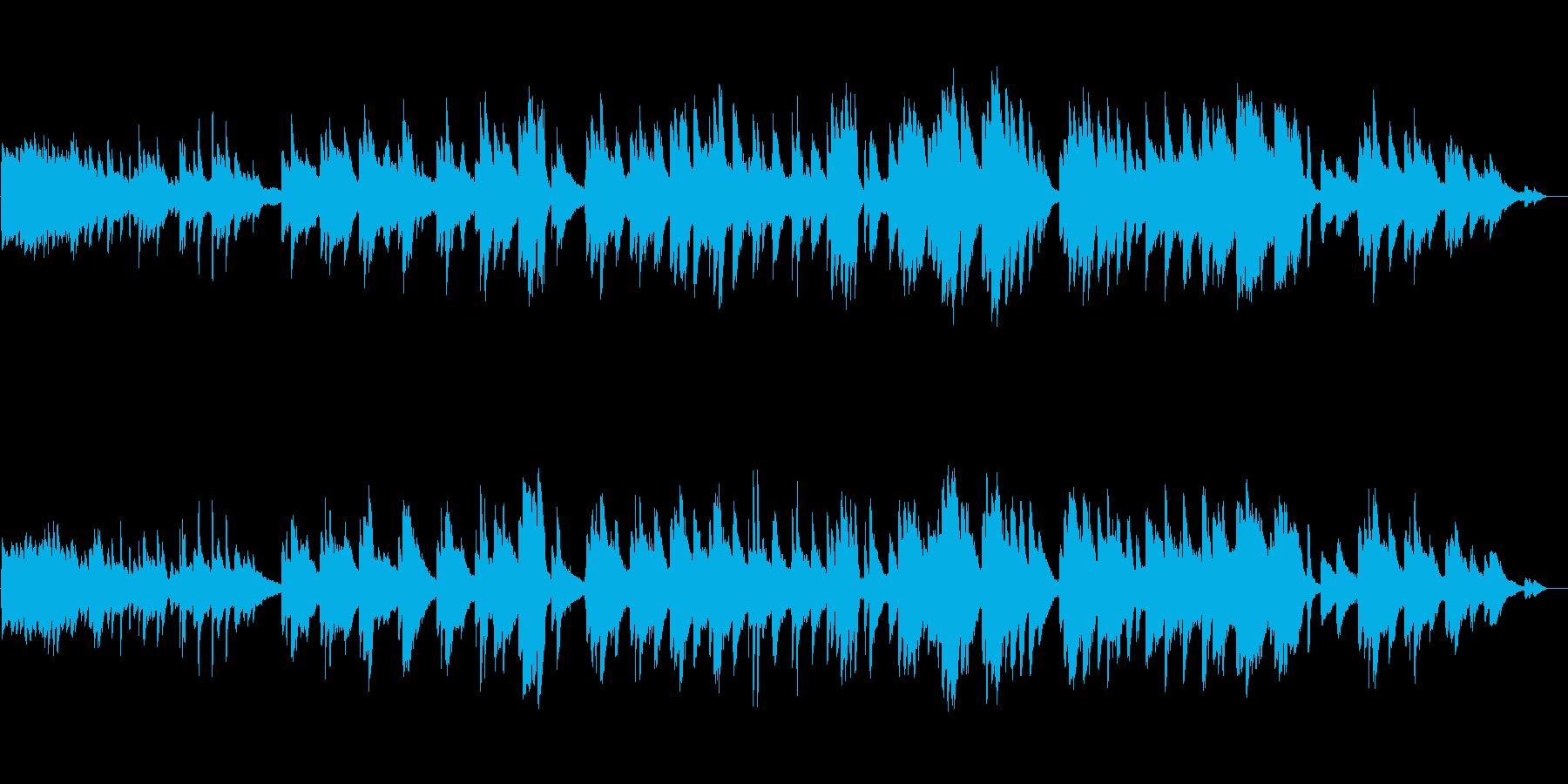 生ピアノ録音-森に迷い込んだようなピアノの再生済みの波形