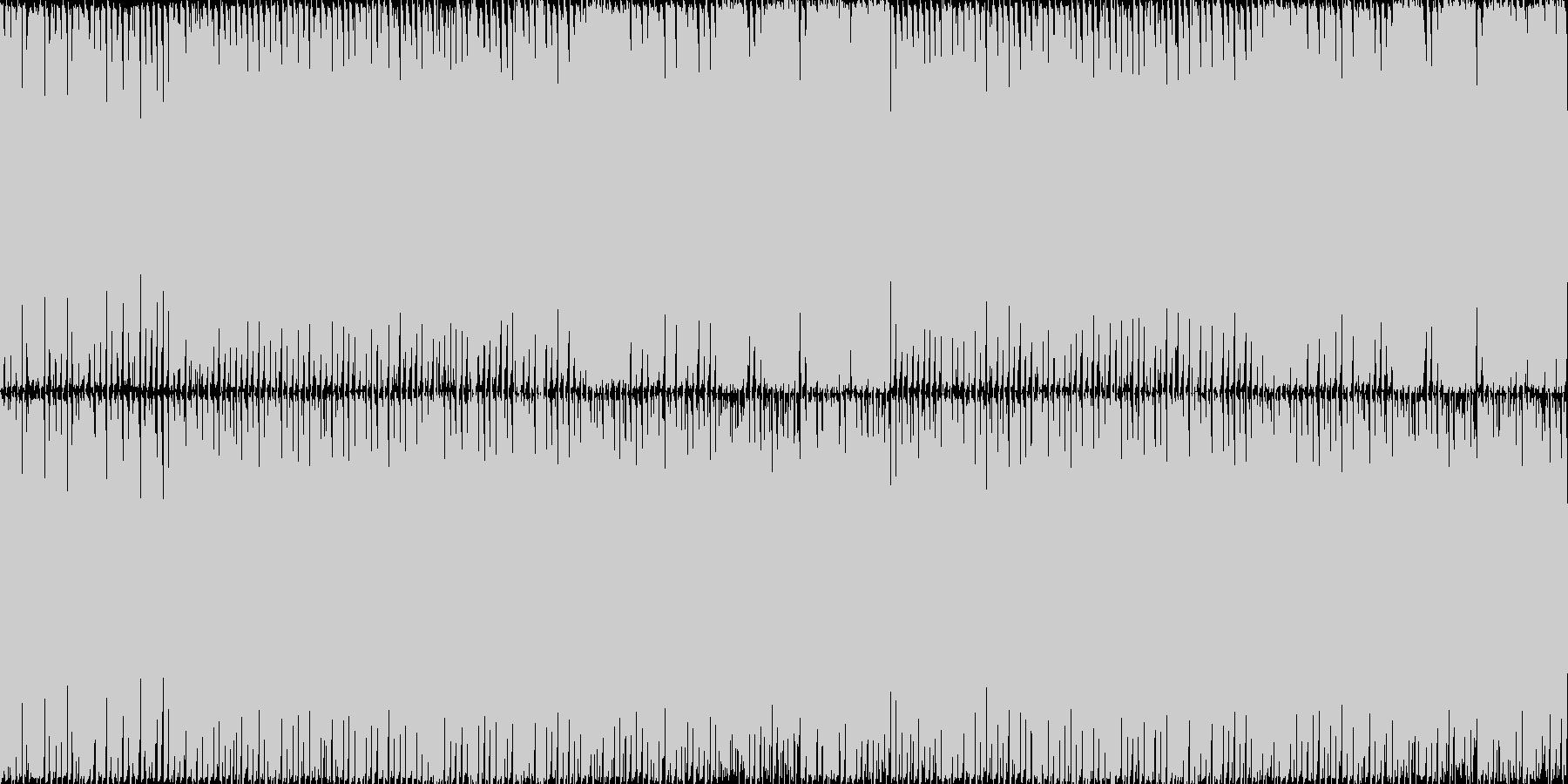 空を駆け抜けるようなイメージです。の未再生の波形