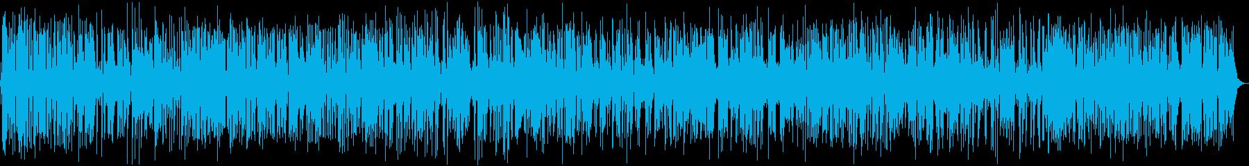 ジャズピアノのおしゃれカフェBGMの再生済みの波形