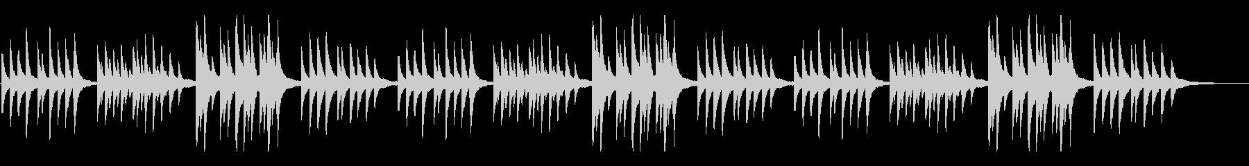 故郷(ふるさと)シンプルなピアノアレンジの未再生の波形