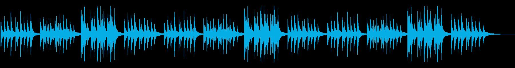 故郷(ふるさと)シンプルなピアノアレンジの再生済みの波形
