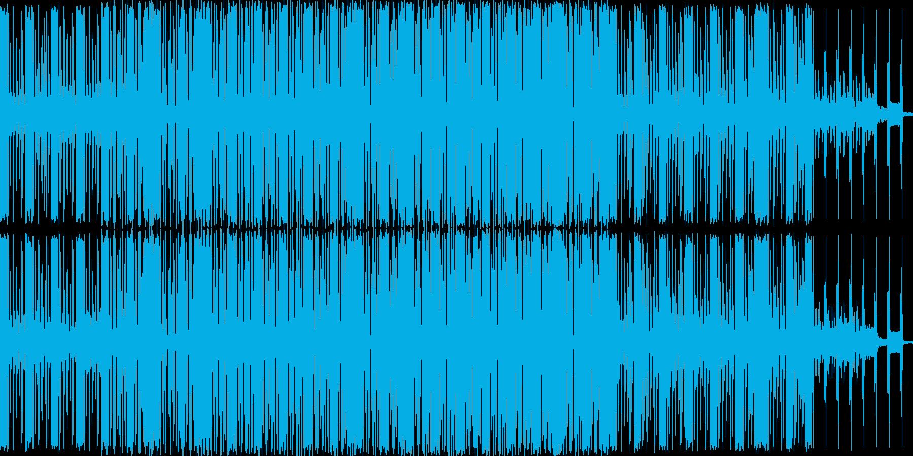 軽快な曲ですの再生済みの波形