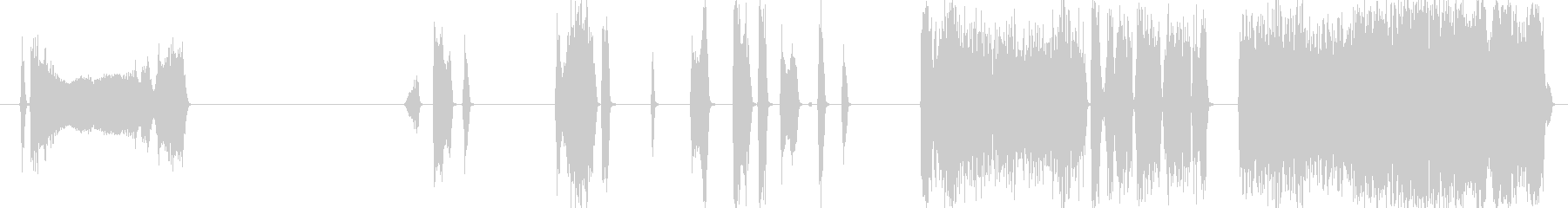 キーー(超音波洗浄機とステンレス)の未再生の波形