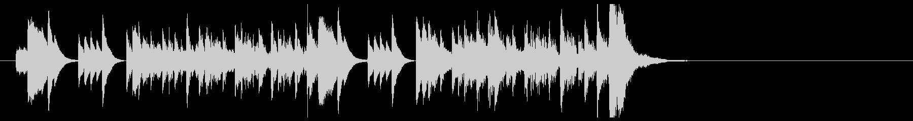 ピアノと木琴による軽快でおしゃれな小曲の未再生の波形