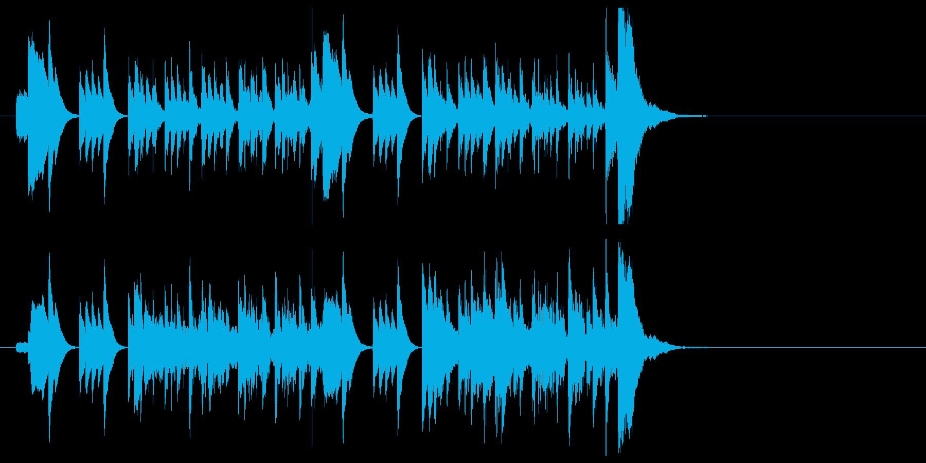 ピアノと木琴による軽快でおしゃれな小曲の再生済みの波形