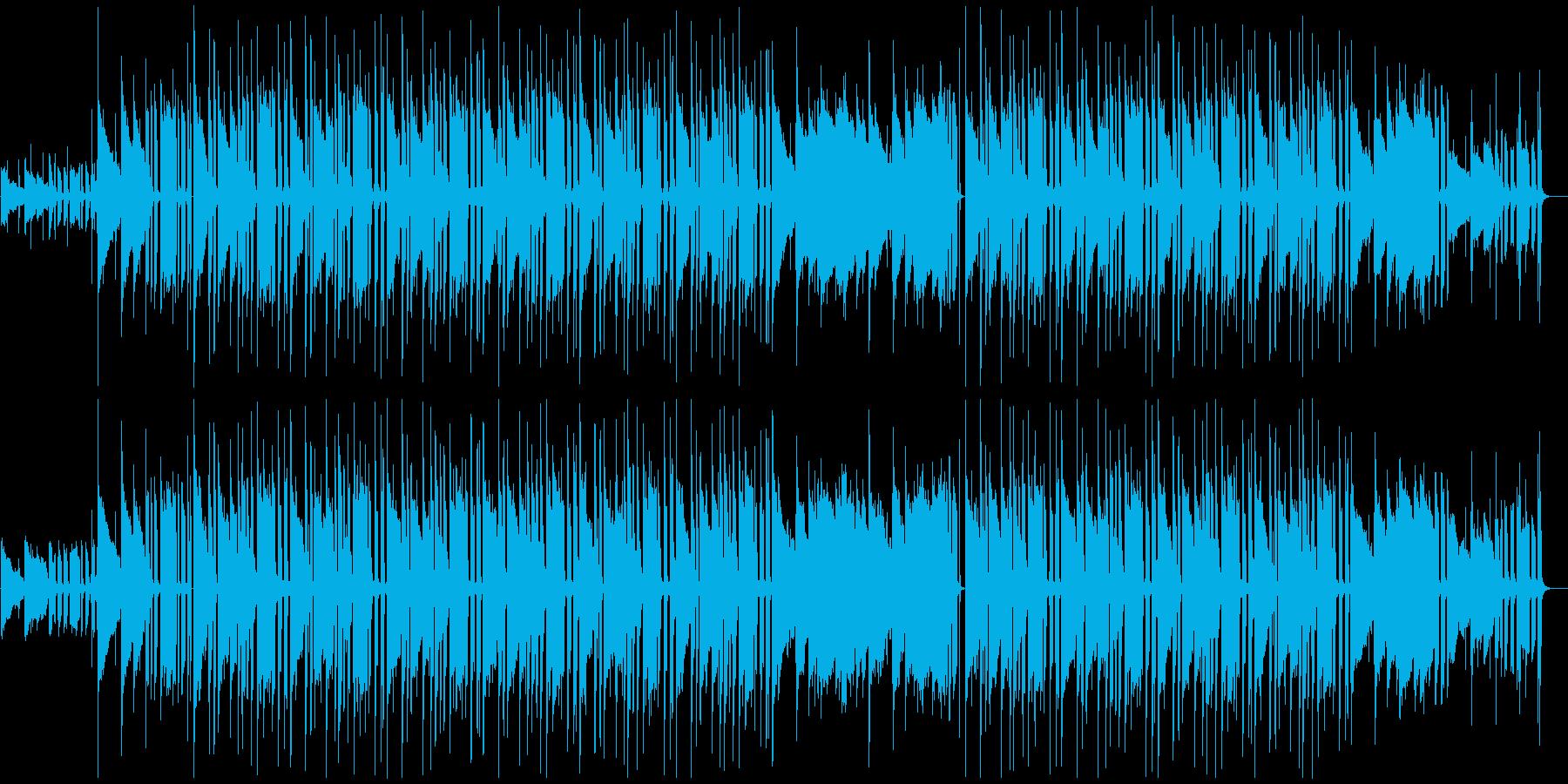 穏やかで少し切ない映像に/ゆっくりテンポの再生済みの波形