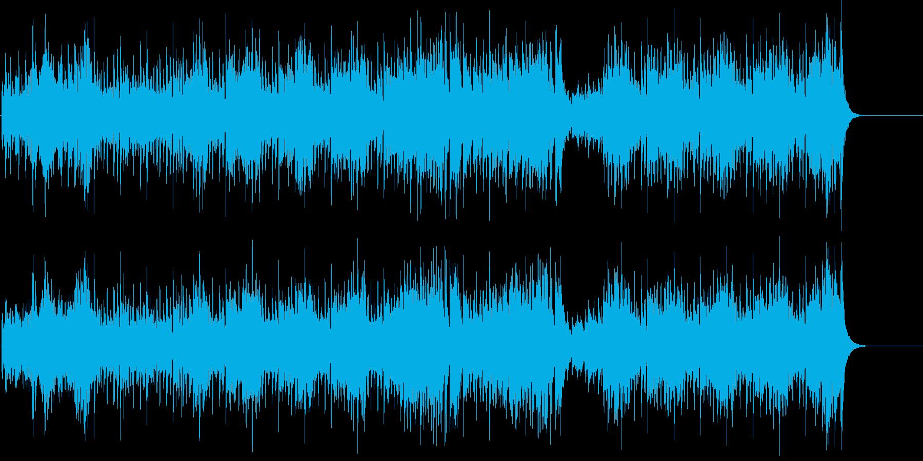 華々しく軽快なマイナーファンキーテーマの再生済みの波形
