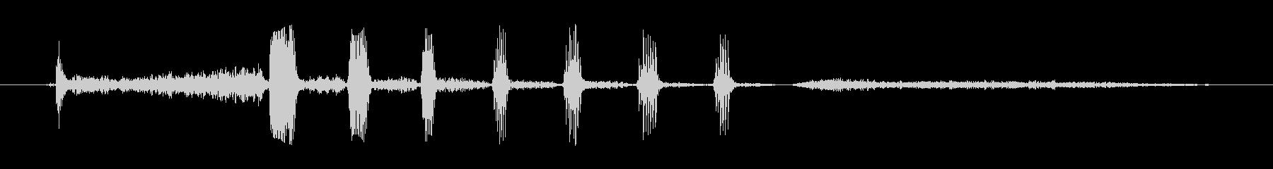 シニア男性:短い笑いの未再生の波形