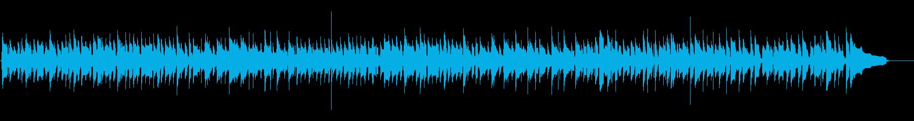 生アコギ、ピアノ、ワルツのカフェ音楽の再生済みの波形