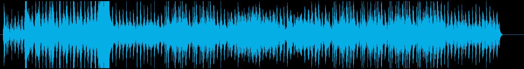壮大かつ力のある曲の再生済みの波形