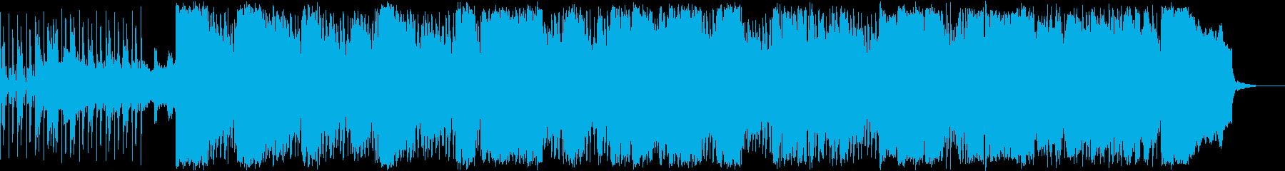 エスニック風BGMの再生済みの波形