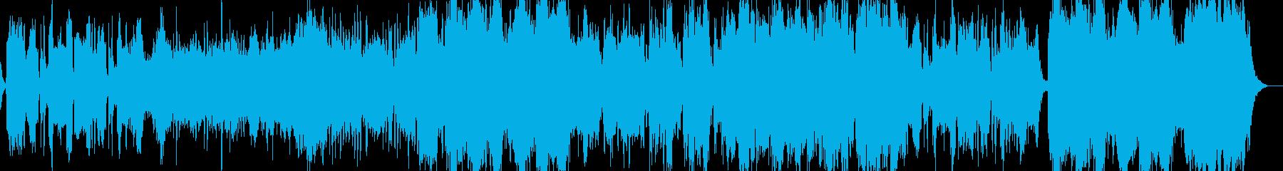 壮大で感動的な和風オーケストラBGMの再生済みの波形