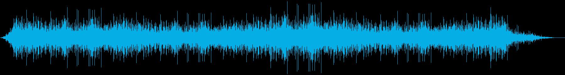 雨 パラパラ 環境音の再生済みの波形