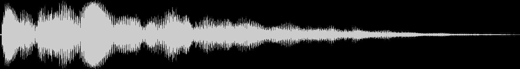 ピララーン(タイトル、上がる、表示)の未再生の波形