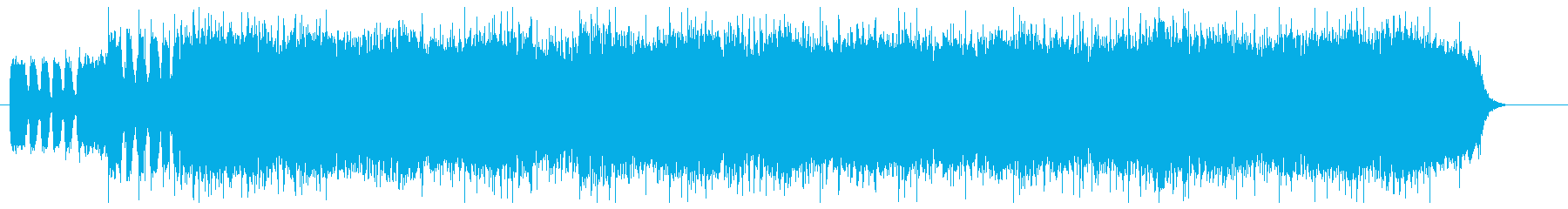 空から落ちるようなダイナミックな曲の再生済みの波形