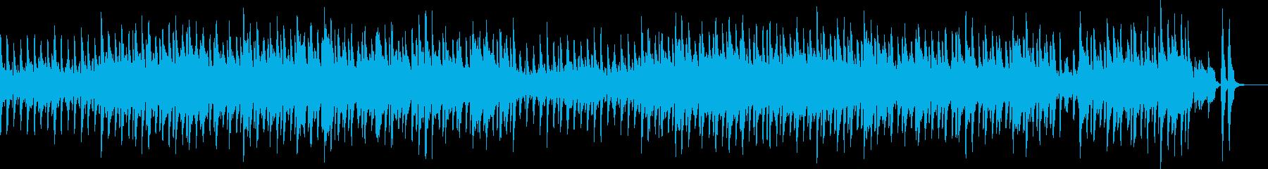 明るくかわいいリコーダーとピアノの曲の再生済みの波形