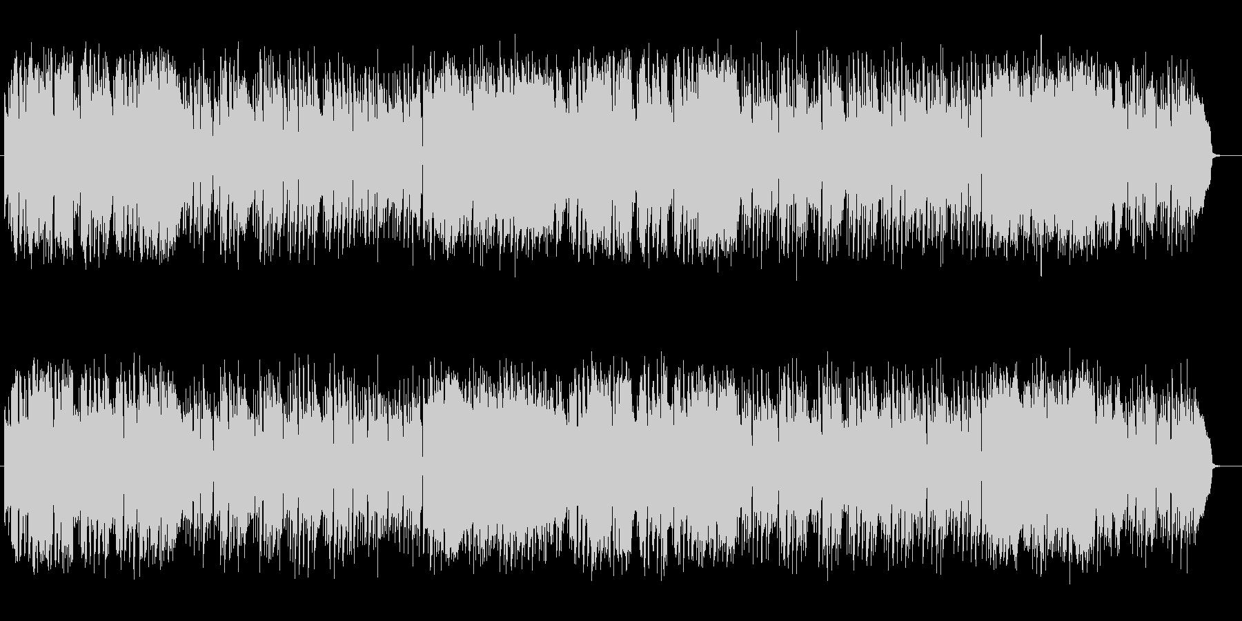 ミステリアスな懐かしいシンセサイザーの曲の未再生の波形