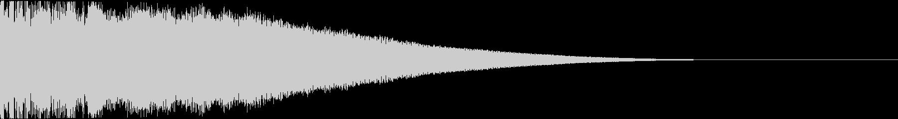 ピキーン:当たり・衝撃・ヒットbの未再生の波形