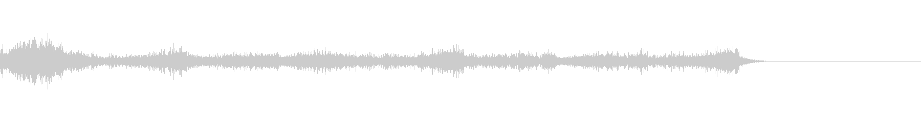 2「暗い、なんとなく恐ろしい音」の未再生の波形
