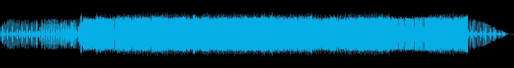 ホラーな感じの四つ打ちの再生済みの波形