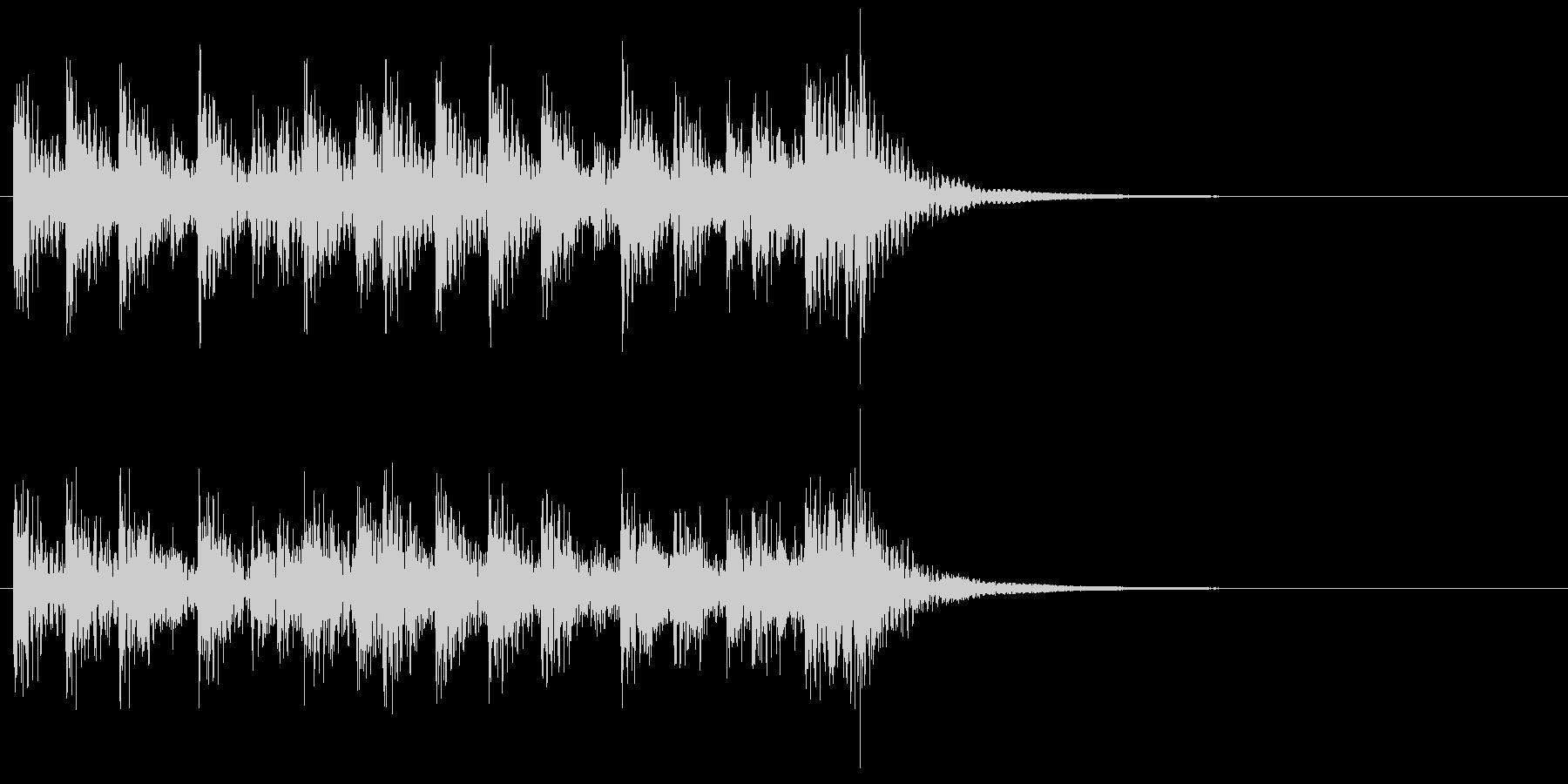 和風ジングル2、和太鼓アンサンブルAの未再生の波形