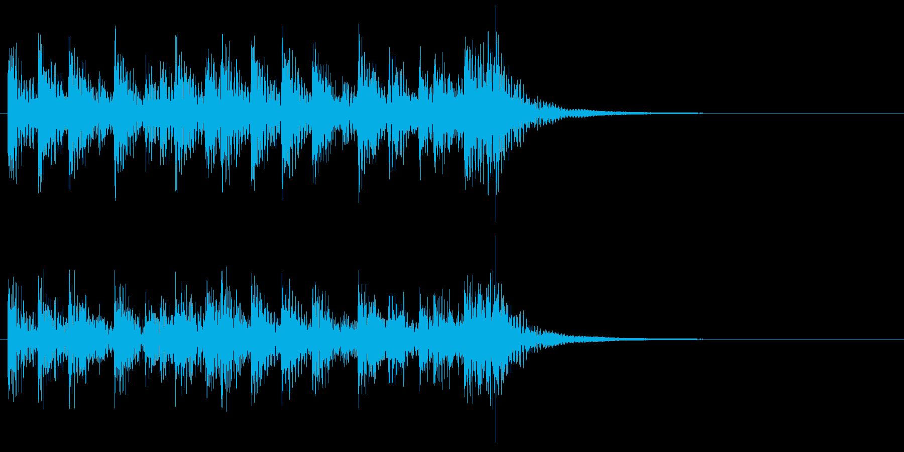 和風ジングル2、和太鼓アンサンブルAの再生済みの波形