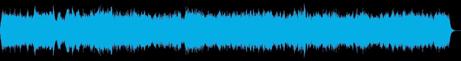 バッハのようなパイプオルガンの壮大な曲の再生済みの波形