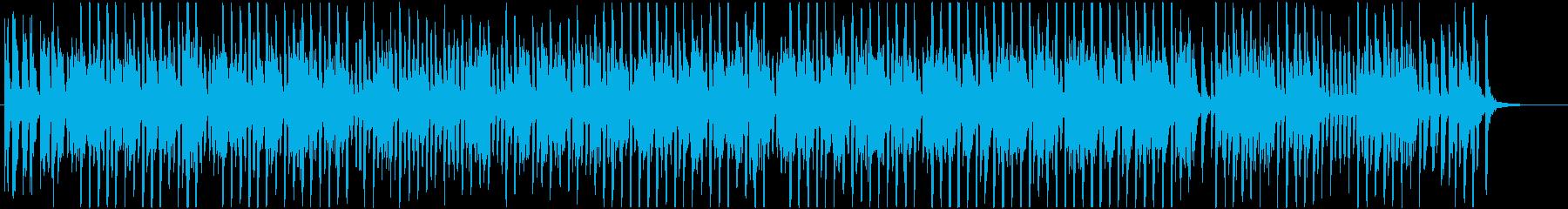 ラグタイムピアノの明るいBGMの再生済みの波形