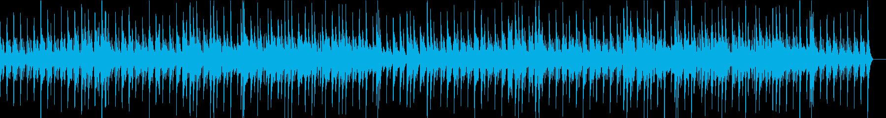 ラテン風の伸びやかなジャズの再生済みの波形