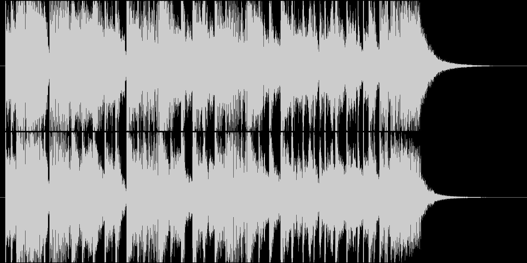 ピアノメインのファンキージングルの未再生の波形