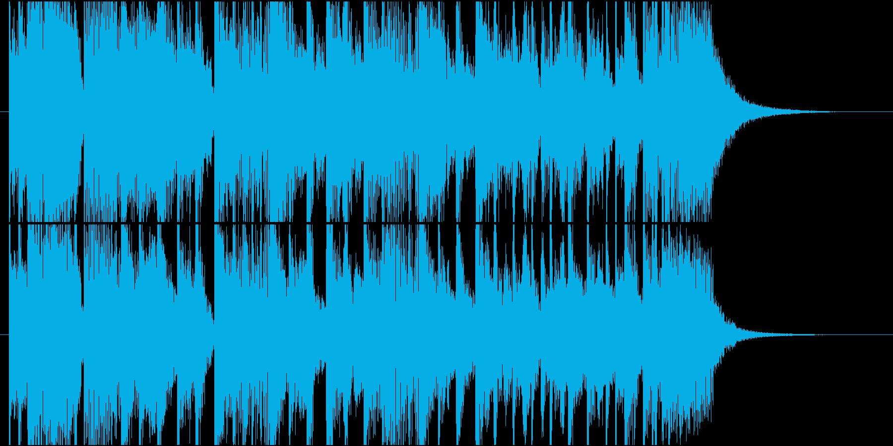 ピアノメインのファンキージングルの再生済みの波形