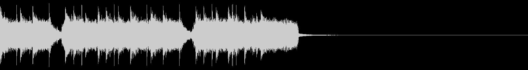 エンディングなどにロックなギタージングルの未再生の波形