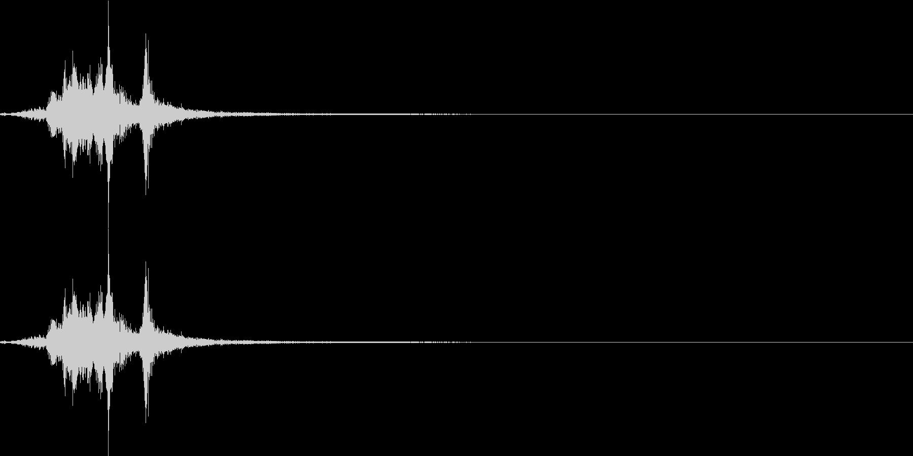 剣を抜く音4【小剣】の未再生の波形